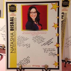 Mensajes de felicitaciones por parte del equipo hispano de DeSales Media Group y la familia de Natasha.